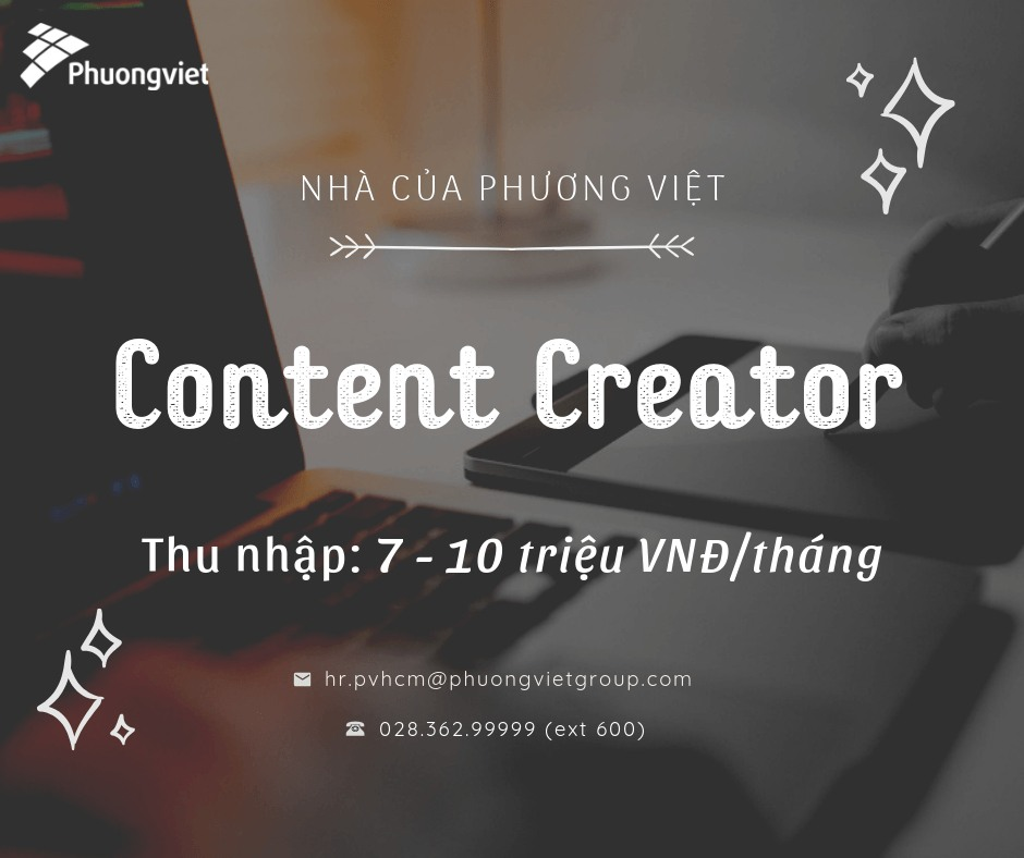 tuyển dụng content creator