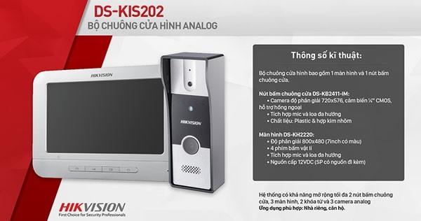 Bộ chuông hình màu Analog HIKVISION DS-KIS202