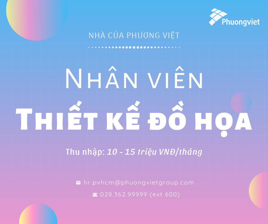 TUYỂN DỤNG GRAPHIC DESIGNER