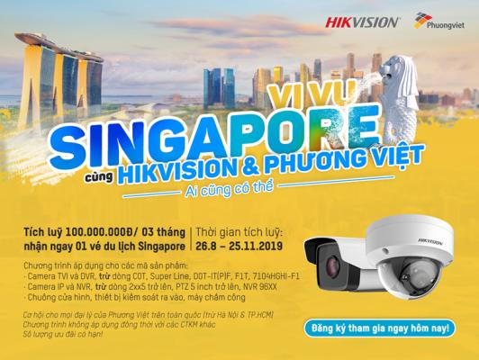 Chương trình vi vu Singapore cùng HIKVISION và Phương Việt