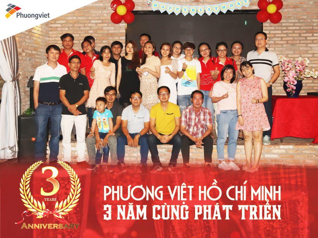 Phương Việt kỉ niệm 3 năm thành lập